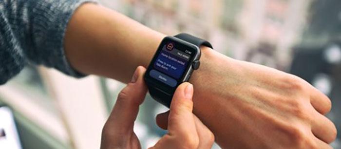 Yale Doorman -älylukon käyttöä Apple Watchilla